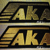 Set of AKA Logos (Golden Metallic + Yellow Threads)